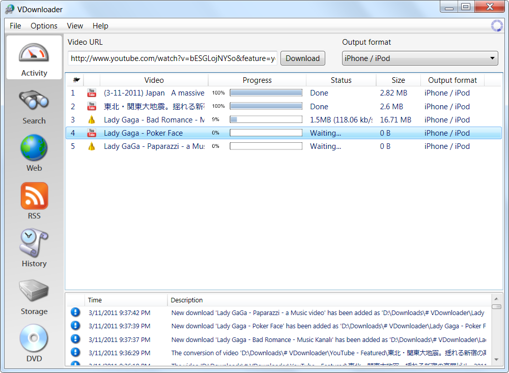 Giao diện VDownloader 4.5.2780