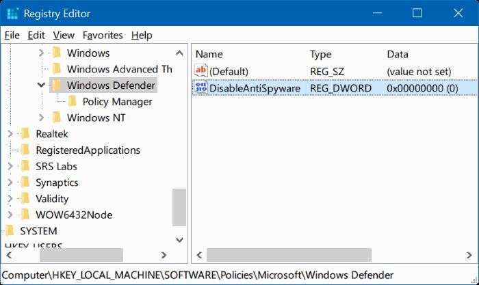 3 Cách Bật/ Tắt Windows Defender Antivirus Trong Windows 10 vĩnh viễn