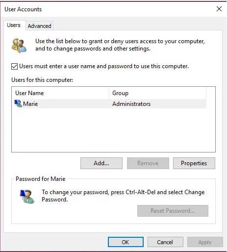 Gỡ bỏ mật khẩu đăng nhập Windows 10