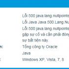 "Khắc phục Lỗi hệ thống ""Error 500 java.lang.nullpointerexception"""
