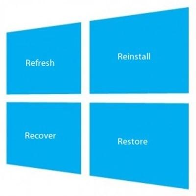 Làm mới, Cài đặt lại hoặc Khôi phục lại Windows 8