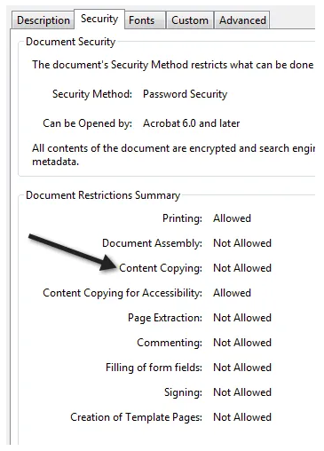 pdf không copy được
