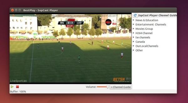 Sopcast Player trong Ubuntu Unity