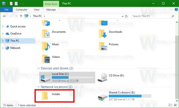 Thêm Network Location đến This PC trong Windows 10