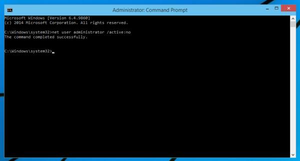 Vô hiệu hóa tài khoản Administrator trong Windows 10