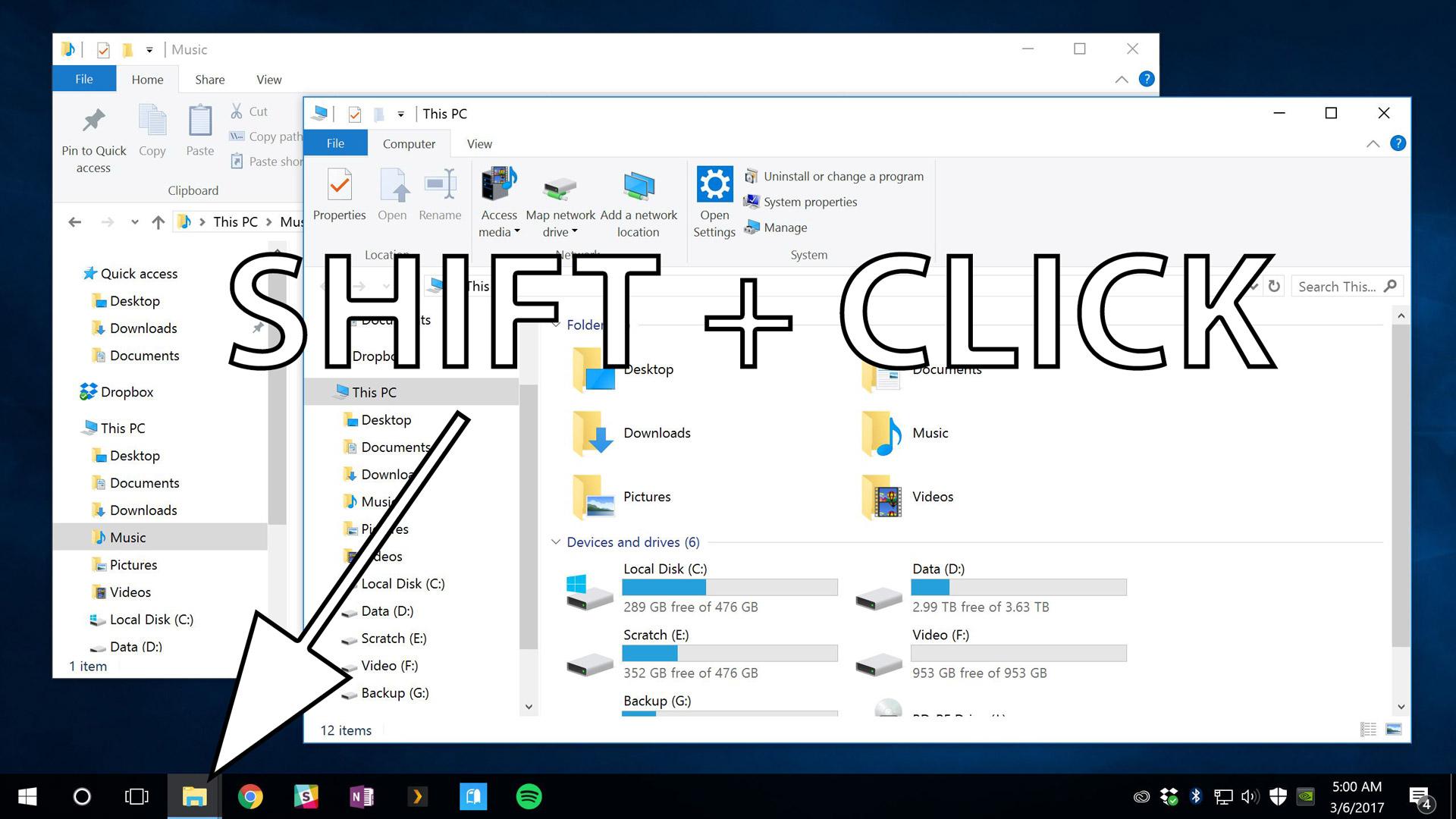Mở cửa sổ mới cho một ứng dụng qua thanh Taskbar Windows