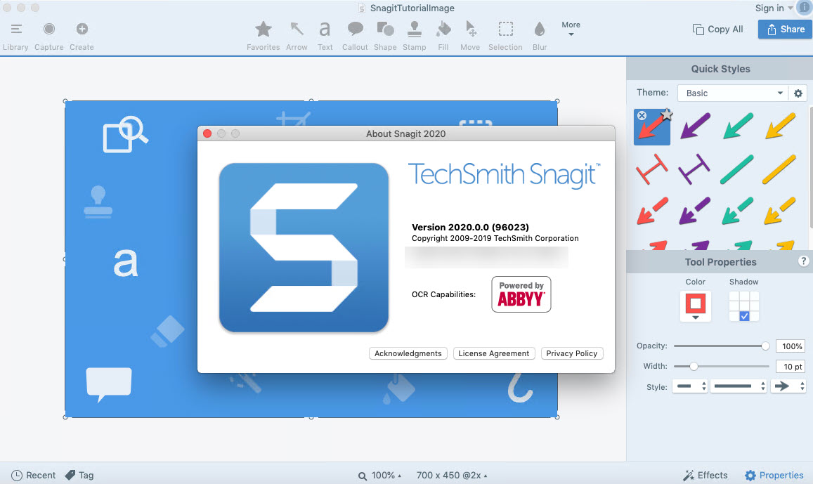 Techsmith Snagit 2020 Full key phiên bản 20.1.1 mới nhất