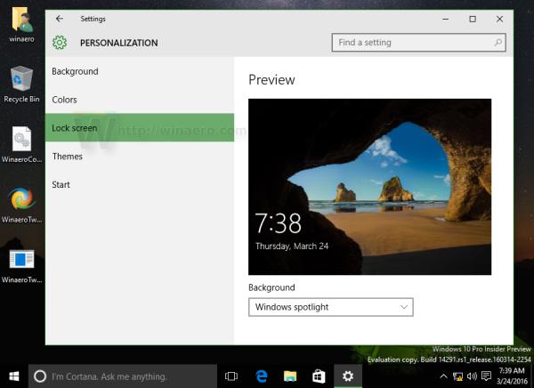 Thay đổi hình nền trên màn hình khóa trong Windows 10