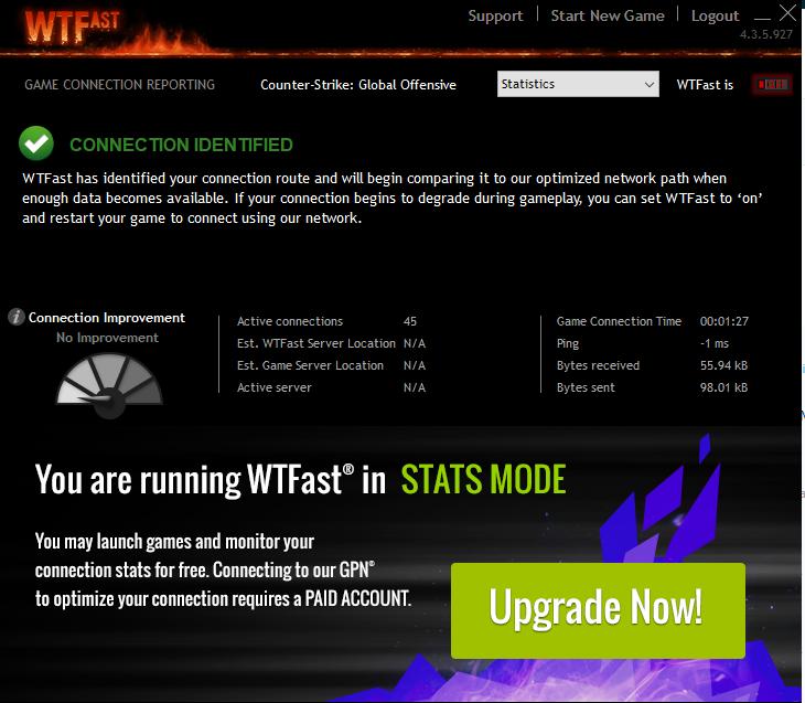 Phần mềm tăng tốc game WTFast
