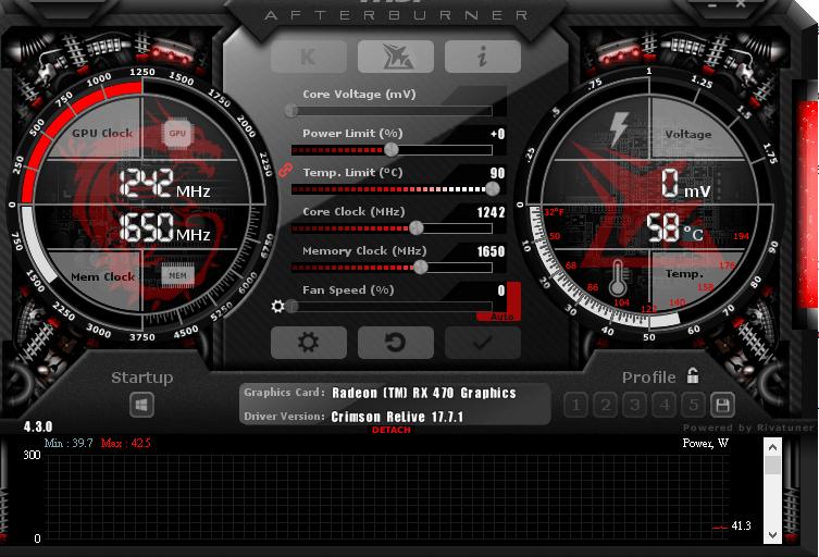 Phần mềm tăng tốc game MSI Afterburner