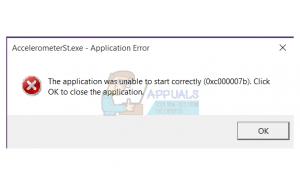 Lỗi AccelerometerSt.exe (0xc00007b) trên Windows 10