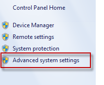 Advance system settings