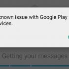 "Thông báo lỗi ""Unknown issue with Google Play Services"" trên CH Play"