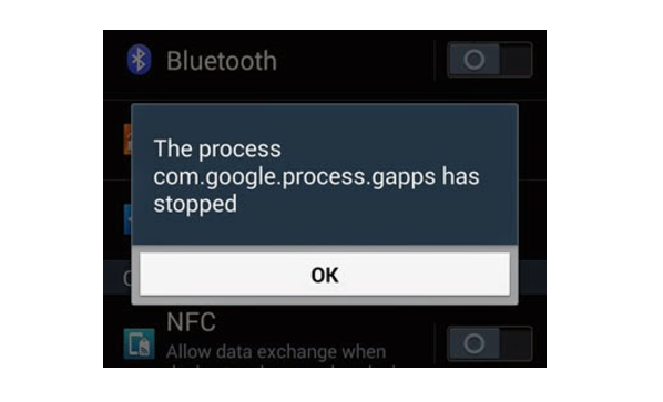 "Sửa lỗi trên Android ""com.google.process gapps has stopped"""