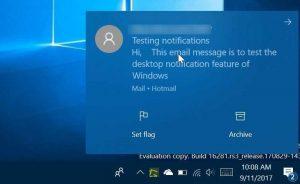 Tắt Thông báo trên Desktop trong Windows 10