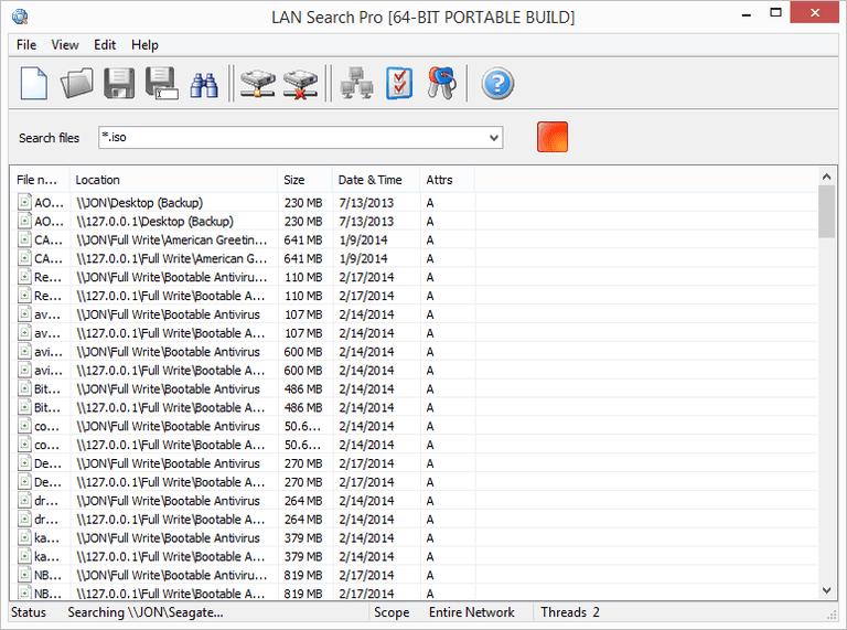 Su  dung LAN Search Pro tim kiem file trong windows