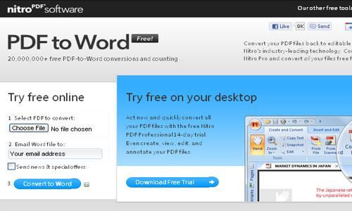 Sử dụng PDF to Word Converter