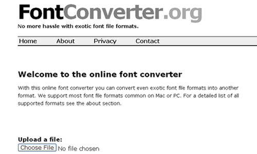 Sử dụng Fontconverter.org