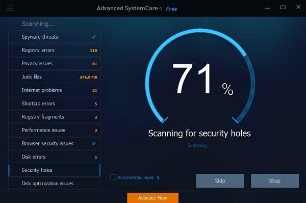 sử dụng IObit Advanced SystemCare