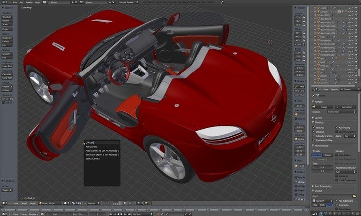 Sung dụng Blender thiết kế 3D