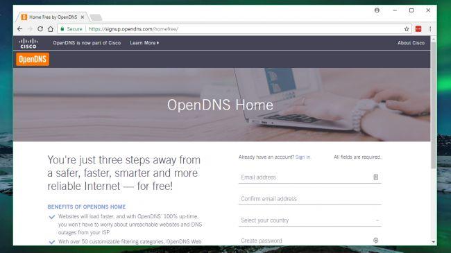 Su dung phan mem tuong lua OpenDNS Home