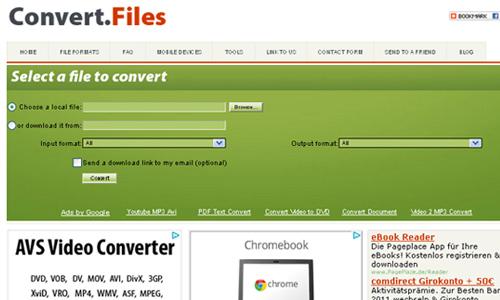 Sử dụng convert files
