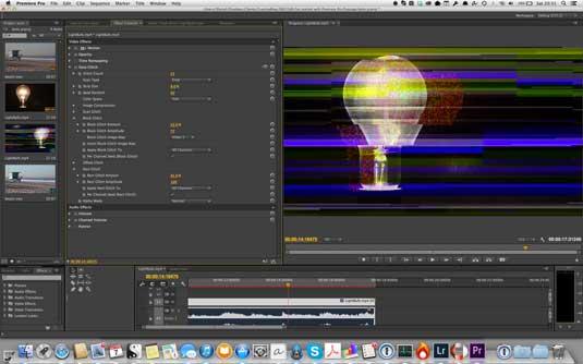 Sử dụng Rowbyte Data Glitch cho Premiere Pro CC