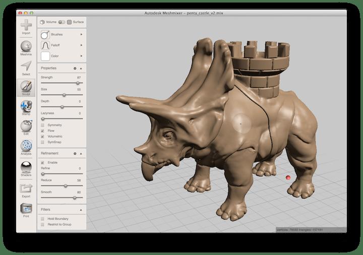 Sử dụng MeshMixer để thiết kế 3D