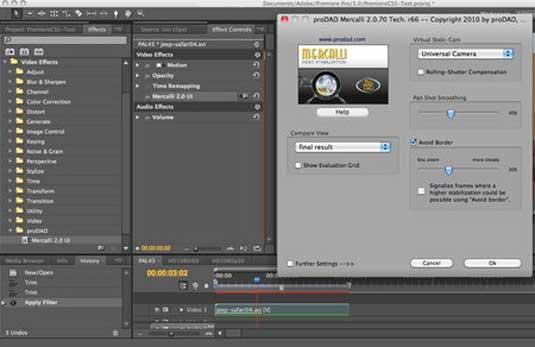 Sử dụng Mercalli Pro cho Premiere Pro CC