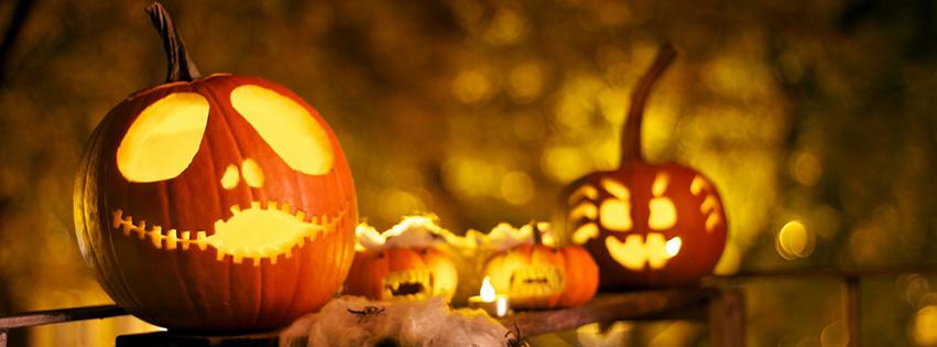 Trang Trí ảnh bìa facebook dip Halloween