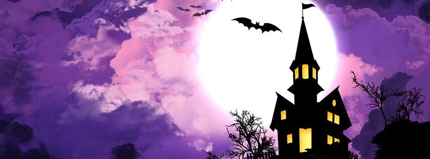 Lâu đài đêm halloween facebook