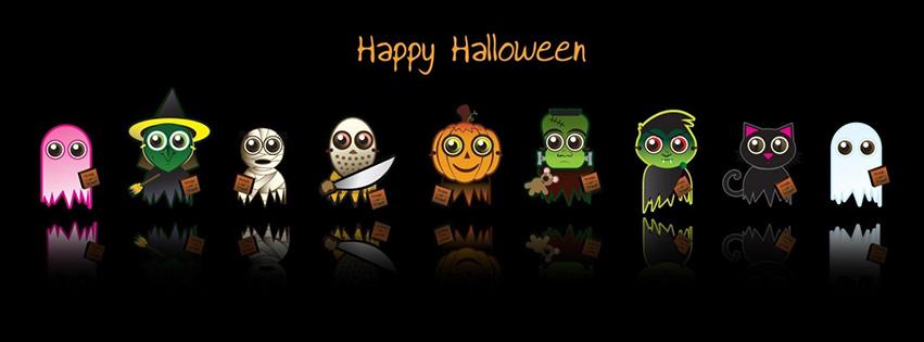 halloween-facebook-cover-Chúc mừng với nhân vật Halloween