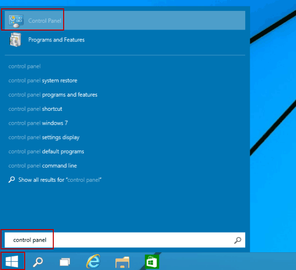 how to access control panel without start menu