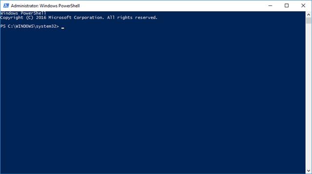 Windows PowerShell 10 - khắc phục các tệp hỏng trong Windows 10