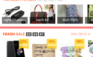 Giao dien ung dung shopee tren android