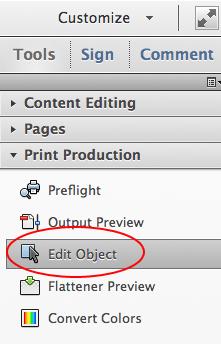 Công cụ Edit Object