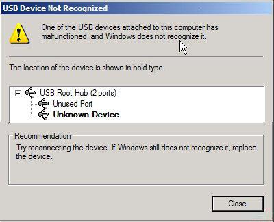 không thể đọc các tập tin từ ổ cứng ngoài không được nhận ra lỗi