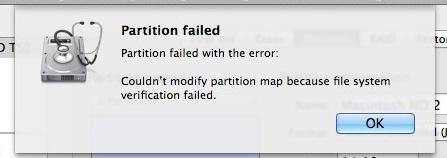 đĩa cứng vấn đề phân vùng thất bại thông báo lỗi