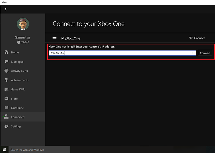 khong ket noi duoc xbox one voi windows 10