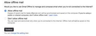 su dung Gmail Offline Chrome