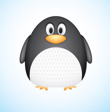 Nhân vật Penguin Vector