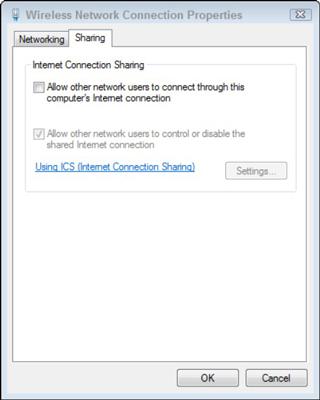Chia sẻ internet Windows 7