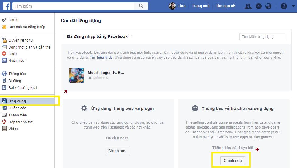 Chặn tất cả yêu cầu trò chơi trên Facebook