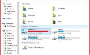 Cach giai phong dung luong o dia trong Windows 10
