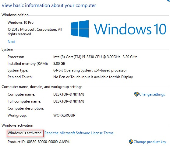 Windows 10 Product Key miễn phí