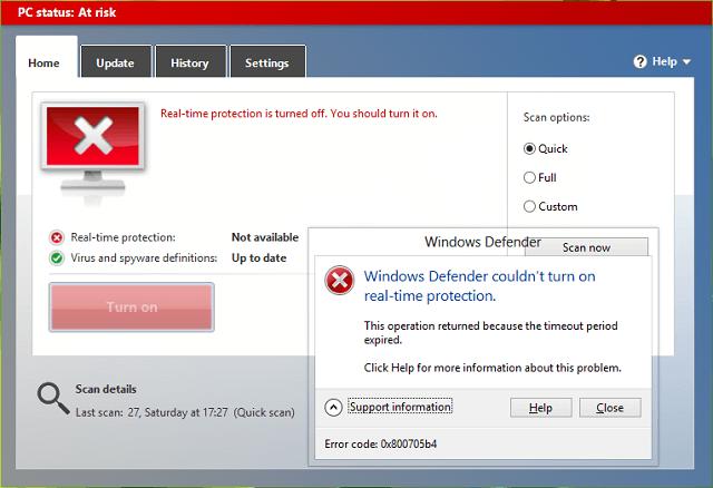 Sửa lỗi 0x800705b4 trong Windows Update và Windows Defender