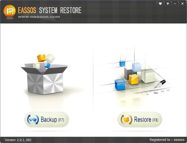 Easos System Restore phần mềm sao lưu