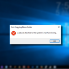 """Sửa Lỗi """"A device attached to the system is not functioning""""trên Windows"""