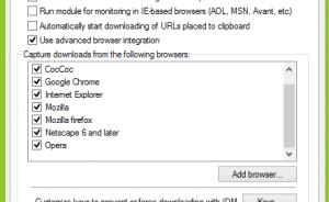 Cách bắt link tải tự động trên trình duyệt web từ IDM