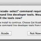 Xác nhận cài đặt các công cụ dòng lệnh trên Mac OS X